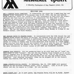 Milwaukee Update : May/June 1980