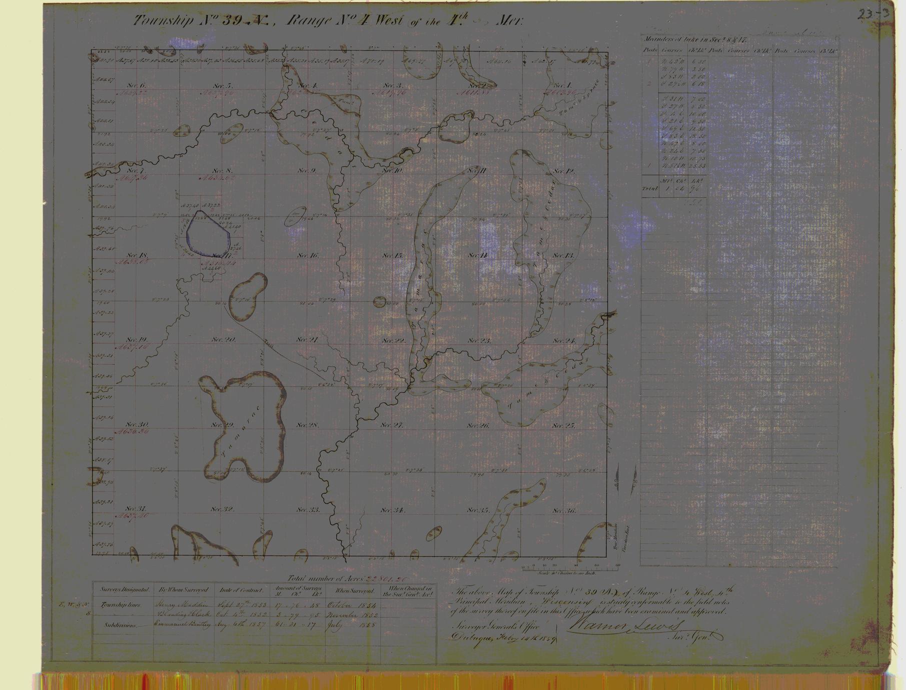 [Public Land Survey System map: Wisconsin Township 39 North, Range 04 West]