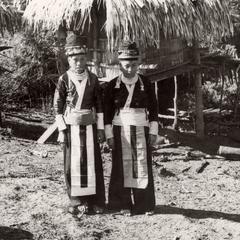 Two White Hmong women in Houa Khong Province