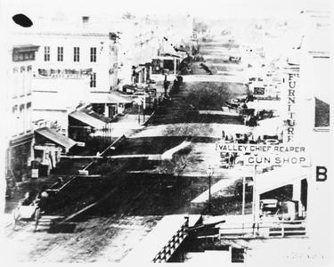 Milwaukee Street looking west in 1850
