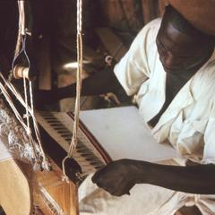 Weaver at Work in National Museum of Niger