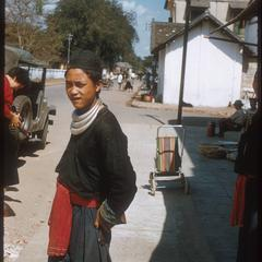 Hmong (Meo) man shopping in Luang Prabang.
