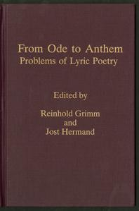 From ode to anthem : problems of lyric poetry