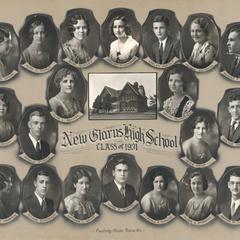 1931 New Glarus High School graduating class