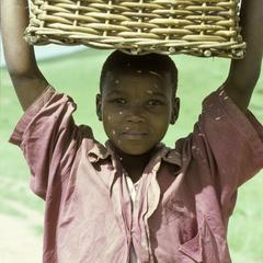 People of South Africa : boy with basket