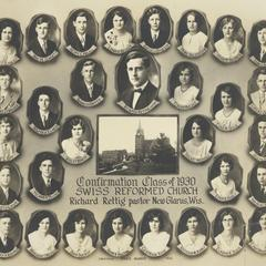 1930 Swiss Reformed Church confirmation class