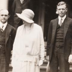 President Frank, Mary Frank and Charles Lindbergh