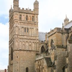Exeter Cathedral north tower view from the west
