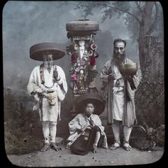 Buddhist image and pilgrims