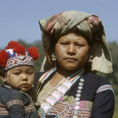 Lahu woman and child