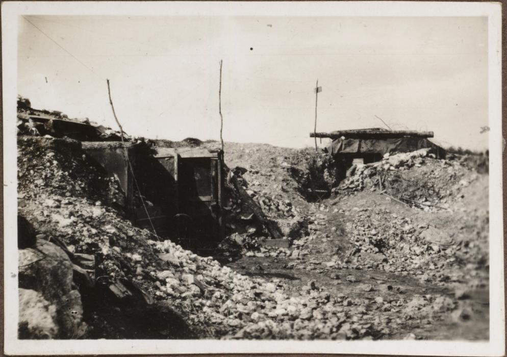 Französ. Unterstände i. der Orneschlucht bei Verdun