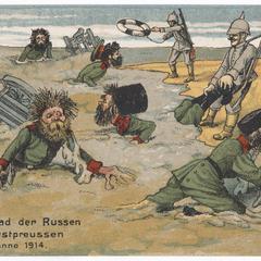 Moorbad der Russen in Ostpreussen, Anno 1914