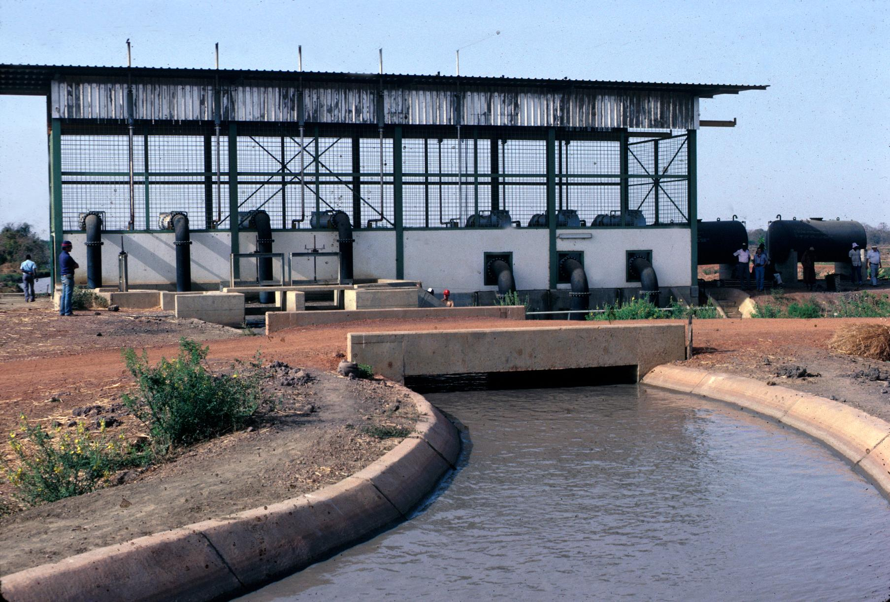 Irrigation Pump House and Canal in Jahally/Pacharr Rice Project