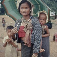 Ethnic Khmu' woman with child