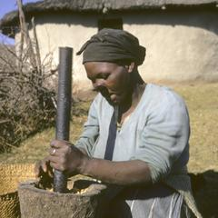 Southern Africa : Domestic Activities : mortar and pestle