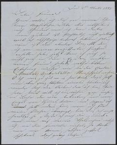 [Letter from Anton Klenert to Jakob Sternberger, April 4, 1853]