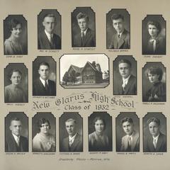 1932 New Glarus High School graduating class