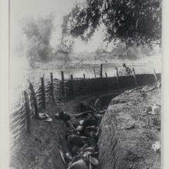 Insurgent dead in entrenchments, Bagbag, 1899