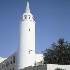 Minaret of Fascist-Style Neighborhood Mosque Built by Italians in 1920-38