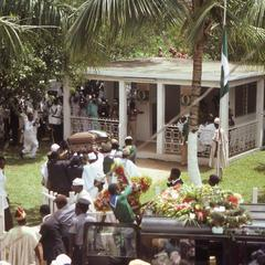 Carrying the casket at the Fatahunsi funeral