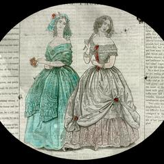 Spring fashions, evening dresses, 1842