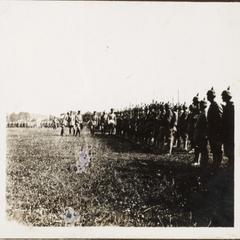 Regiments-parade von dem [ill.] Deutschen Kronprimzen i. Steney