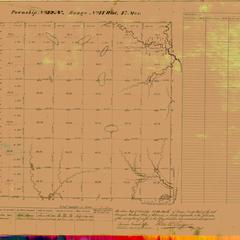 [Public Land Survey System map: Wisconsin Township 32 North, Range 14 West]