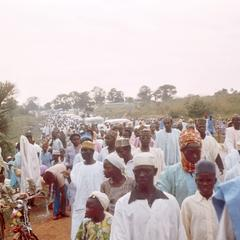Crowds of Hausa Muslims Arriving at Prayer Grounds