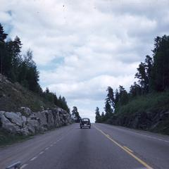 Mountain highway view