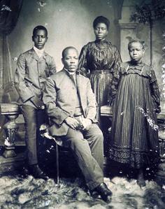 Photo of Well-to-do Krio Family, Circa 1900