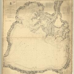 Chart of Lake Saint Clair