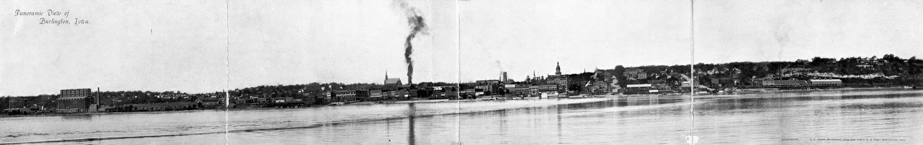 Panoramic View of Burlington, Iowa