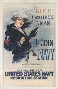 'Gee!! I wish I were a man' Navy poster