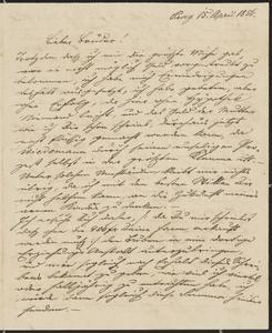 [Letter from Kajetan Sternberger to his brother, Jakob, April 15, 1856]