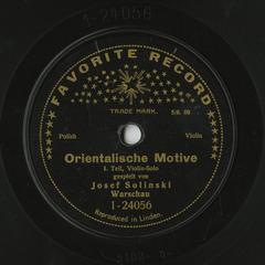 Orientalische motive, I. Teil