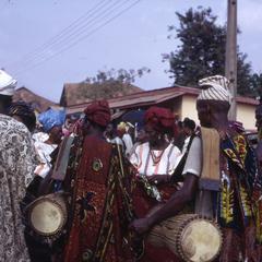 Iwude drummers greet women chiefs