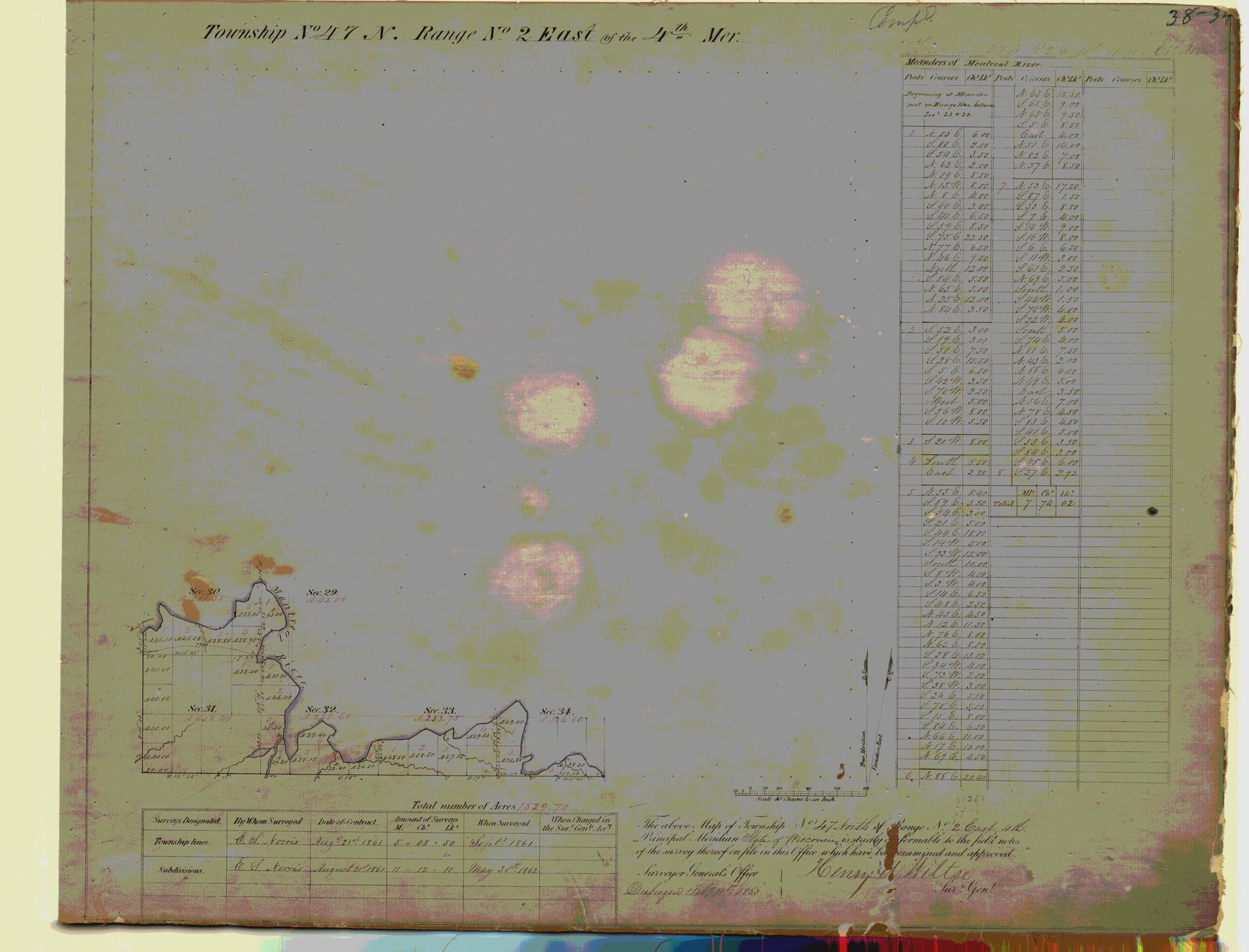 [Public Land Survey System map: Wisconsin Township 47 North, Range 02 East]