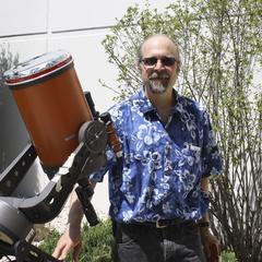 Carey Woodward and telescope