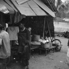 Hmong woman and child at morning market