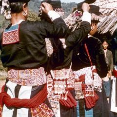 White Hmong women at Hmong New Year in Houa Khong Province