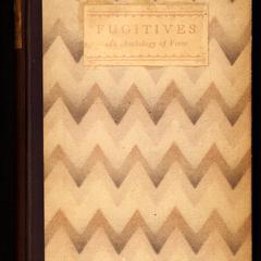 Fugitives : an anthology of verse