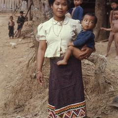Lao woman and child
