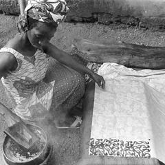 Block Printing Hot Wax Resist on Textiles