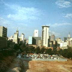 Skyline of Johannesburg as Seen from University of Witwatersrand
