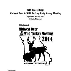 [Proceedings of the Midwest Deer and Wild Turkey Study Group Annual Meeting, 2015]