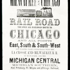 Advertisement - Chicago and Milwaukee Rail Road
