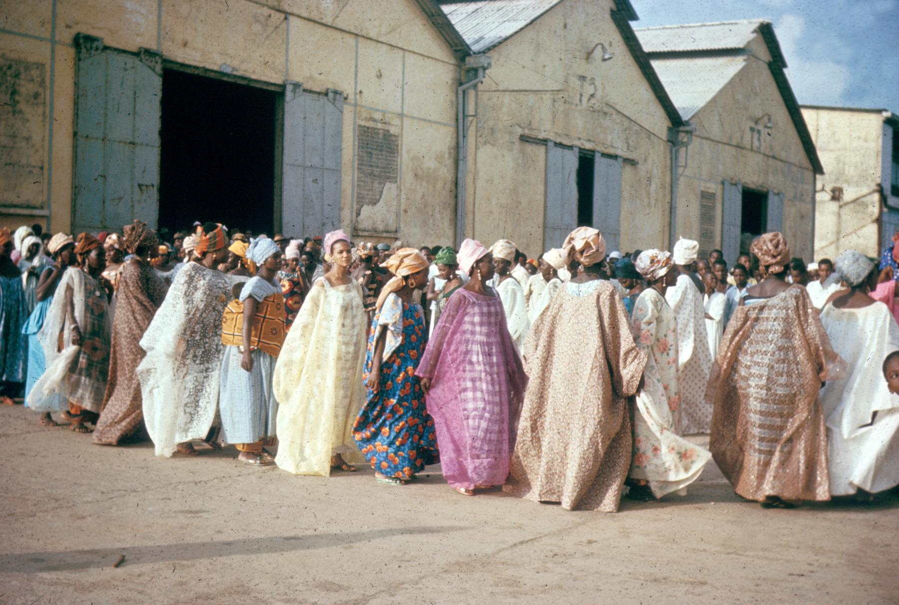 Conakry Women Wave Farewell to Hospital Ship Hope