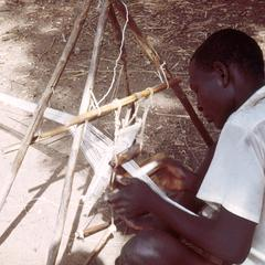 Close-Up of Mbum Weaver at Loom