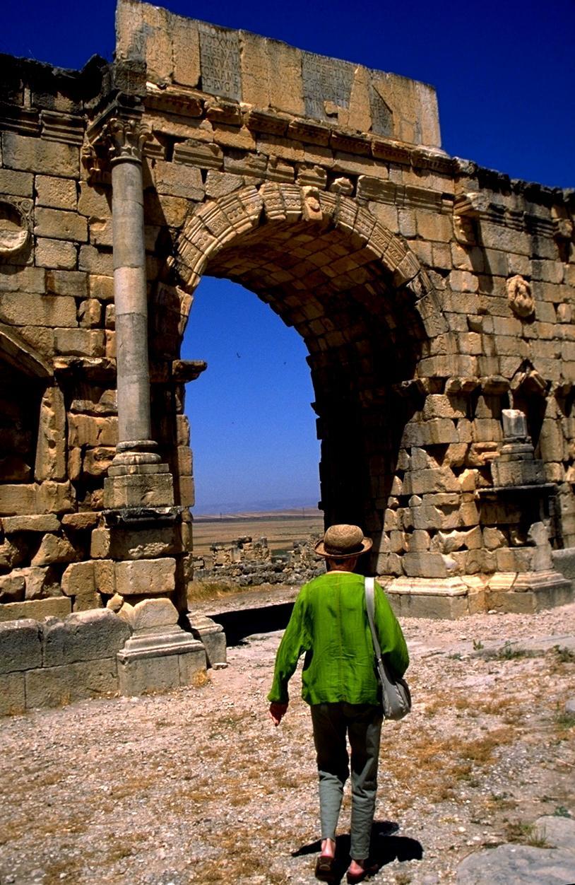 Arch at Volubilis Roman Ruins