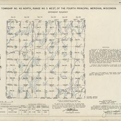 [Public Land Survey System map: Wisconsin Township 40 North, Range 03 West]
